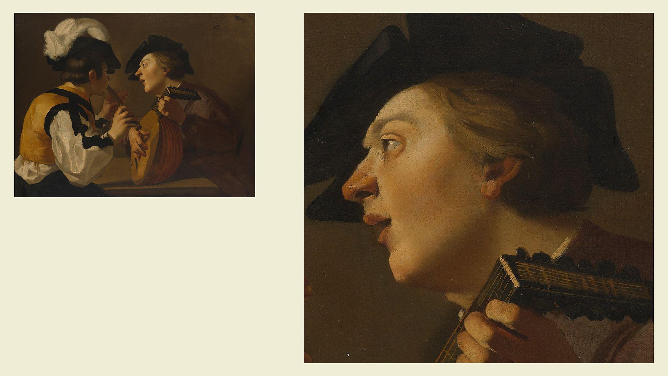 Неизвестный утрехтский караваджист. «Два музыканта», XVII век. Из коллекции Метрополитен-музея